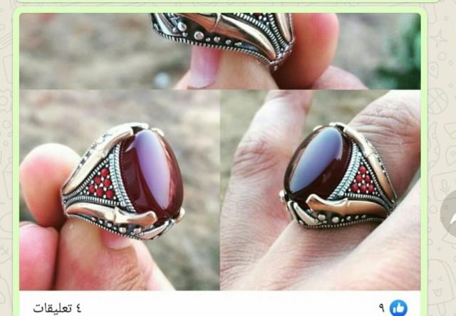 خاتم عقيق يمنى اصي