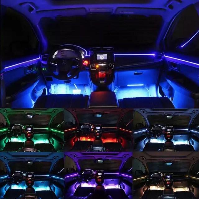 إضاءة ارضية داخل السيارة