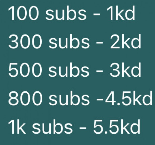 YouTube subscribers for sale