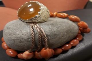 خاتم فضة رجالي حجر اصلي
