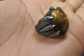 خاتم حجر النمر تركي