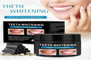 مسحوق تبيض الاسنان