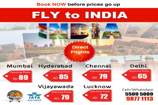 fly to india